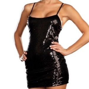 Black Sexy sequin mini dress Size Small DreamGirl